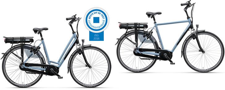 Beste Elektrische fiets 2016-2017 Batavus Stream Dames en Heren model