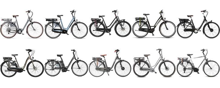 Samenstelling Top 10 Beste Elektrische fietsen