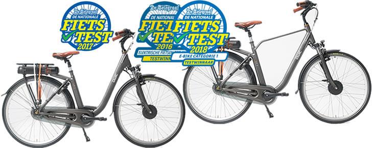 winnaar Nationale Fietstest 2018 Telegraaf categorie 1 voorwielmotor Qwic Premium FN7.1
