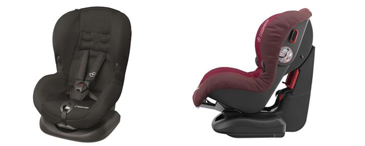 Voor- en zijaanzicht van beste autostoeltje 2016-2017 Maxi-Cosi Priori SPS in Top 10 Beste Autostoeltjes