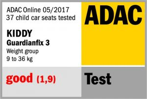 ADAC test mei 2017 Kiddy Guardianfix 3 groep 1 2 3