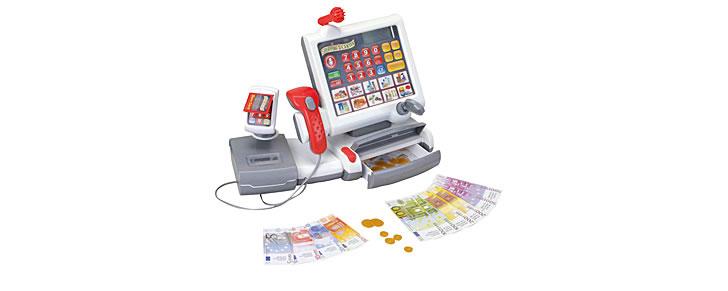 winkeltje spelen cadeau tip kleuters 4 - 6 jaar elektronische kassa Theo Klein