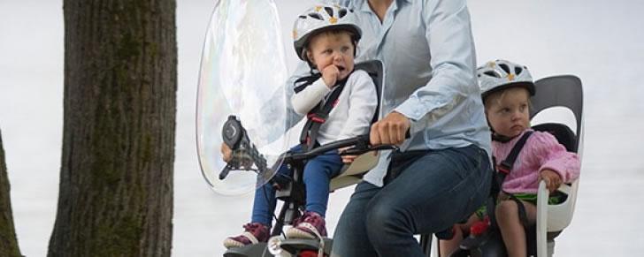 Hamax Observer voorzitje met windscherm in Top 10 Beste fietsstoeltjes voor