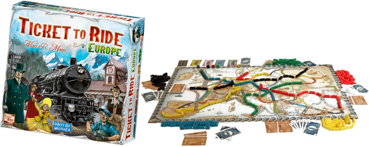Voorbeeld Ticket to Ride Europe bordspel in Top 10 Beste cadeaus tieners 2017
