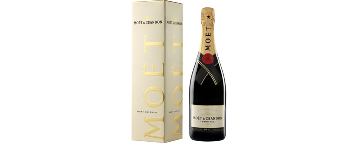 Top10 beste champagnes 2017 Moët & Chandon Brut Giftpack 75CL GIFTPACK