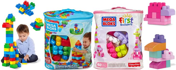 Mega Bloks First Builders 60 Maxi Blokken Met Tas in Top 10 Beste cadeaus peuters