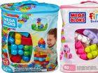 zelf bouwen speelgoed peuters Mega Bloks First Builders 60 Maxi Blokken Met Tas