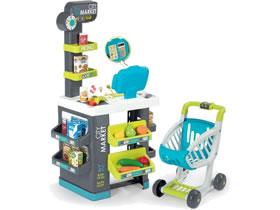 Winkeltje spelen speelgoed peuters Speelgoed supermarkt met winkelwagen en kassa