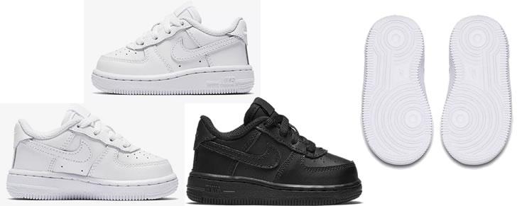 Nike Air Force 1 Low Baby & Toddler maat 17 tot 27 in Top 10 Beste Babyschoenen en -sneakers harde zool