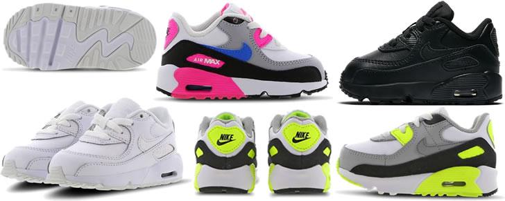 Nike Air Max 90 Baby's Peuters maat 17 tot 27 in Top 10 Beste Babyschoenen en -sneakers harde zool