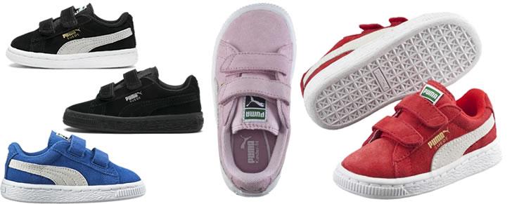 Puma Suede baby-sneakers met twee bandjes maat 18 tot 27 in Top 10 Beste Babyschoenen en -sneakers harde zool